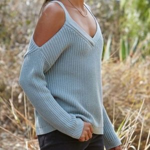 LA Hearts Pac Sun Cold Shoulder Pullover Sweater